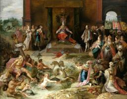 Франс Франкен Младший. Аллегория отречения от престола Карла V в Брюсселе. 1630-1640