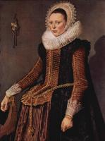Франс Хальс. Портрет женщины в кружевном воротнике и чепце