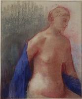 Одилон Редон. Обнаженная с голубым шарфом