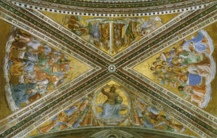 Fra Beato Angelico. Ceiling painting of Madonna di San Brisio's chapel in Orvieto, Italy