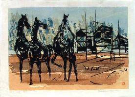 Тамами Шима. Три лошади