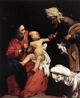 Карло Сарачени. Мадонна с младенцем и Святая Анна