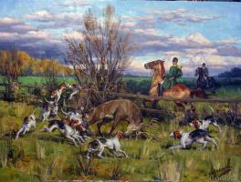 Дмитрий Кузьмич Лучанов. Охота на оленя.  2017