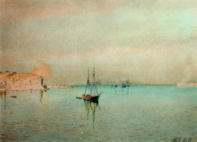 Лев Феликсович Лагорио. Вход Черноморской эскадры в Севастопольскую бухту. 1892