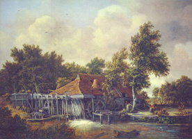 Maydert Hobbema. Water mill