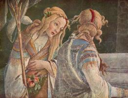 Сандро Боттичелли. Юность Моисея, фрагмент