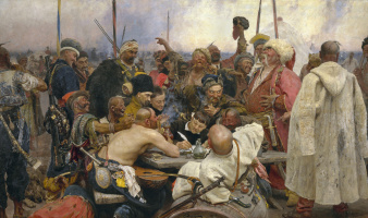 Cossacks writing a letter to the Turkish Sultan