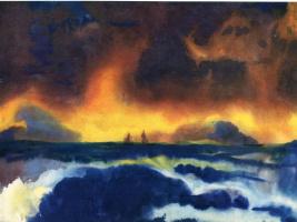 Эмиль Нольде. Корабли вдалеке