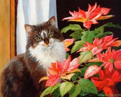 Пэрис Клейтон Вейрс. Кот и цветы