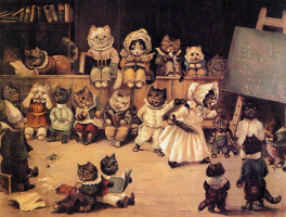 Louis Wain. Academy of cats