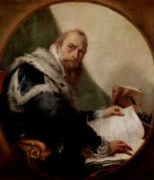 Джованни Баттиста Тьеполо. Портрет Антонио Риккобоно, фрагмент