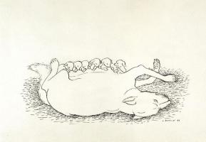 Хуан Сориано. Собака со щенками