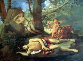 Никола Пуссен. Нарцисс и Эхо