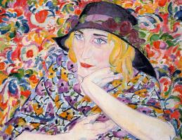 Leo Gestel. Still life with woman