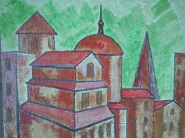 Вячеслав Коренев. Red houses