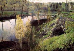 Ilya Semenovich Ostroukhov. The first green