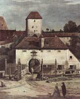 Джованни Антонио Каналь (Каналетто). Крепостные укрепления и Верхние ворота, фрагмент