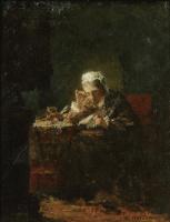 Алексей Алексеевич Харламов. Портрет женщины, возможно матери художника.