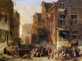 Сэмюэл Вервир. Вид на еврейский квартал