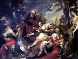 Валерио Кастелло. Моисей, иссекающий воду из скалы