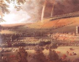 Ян Сиберехтс. Пейзаж с радугой Хенли на Темзе