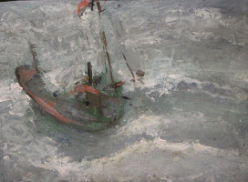 Vyacheslav Dmitrievich Karelin. In the sea