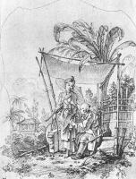 Франсуа Буше. Дама с зонтиком. Рисунок
