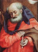 Робер Кампен. Рождение Христа. Фрагмент: Иосиф со свечой