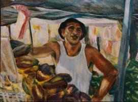 Silva Iosifovna Zalmanson. Portrait of a seller of vegetables