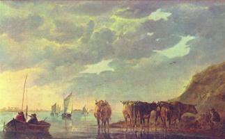 Альберт Якобс Кейп. Коровы у реки