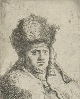 Ян Ливенс. Портрет господина в высокой меховой шапке