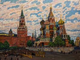 Крестный ход на Васильевском спуске