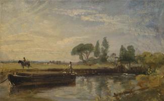 John Constable. Flatford Barge