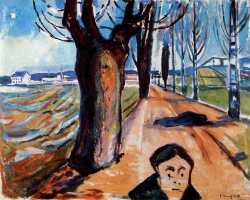 Edward Munch. Killer on the road