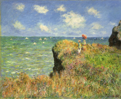 Claude Monet. The walk to the cliff in Purvile