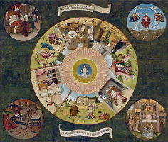 Hieronymus Bosch. The seven deadly sins and the four last things
