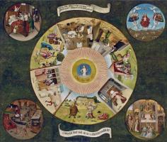 Иероним Босх. Семь смертных грехов и четыре последние вещи