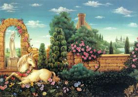 Карлос Очагавиа. Единорог в цветах