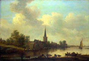 Jan van Goyen. River landscape