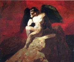 Одилон Редон. Ангел с черными крыльями