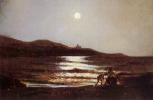 Николай Николаевич Ге. Вид из Санто-Теренцо на Леричи ночью