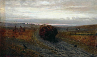 Efim Efimovich Volkov. During haymaking