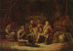 Беньямин Геррит Кейп. Крестьяне в сарае