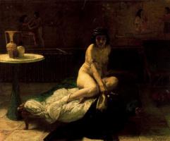 Видение востока. Обнаженная женщина в темноте