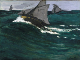 Claude Monet. Green wave