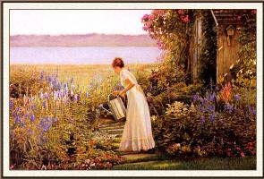 Питер Т Кууидлеу. Поливая сад
