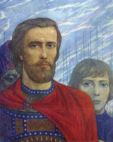 Илья Сергеевич Глазунов. Князь Дмитрий Донской.Из цикла Поле Куликово.1980