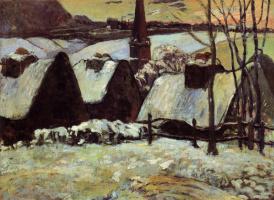 Paul Gauguin. Breton village in the snow