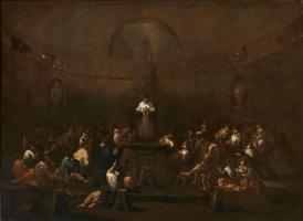 Alessandro Magnasco. Meeting of Quakers