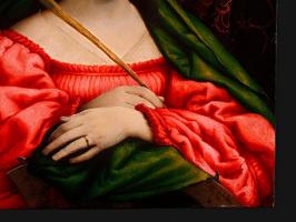 Лоренцо Лотто. Святая Екатерина (фрагмент)